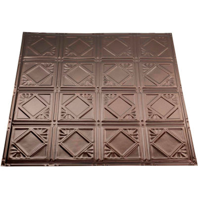 Great Lakes Tin Ludington 2' X 2' Lay-in Tin Ceiling Tile in Bronze Burst - Y57-06