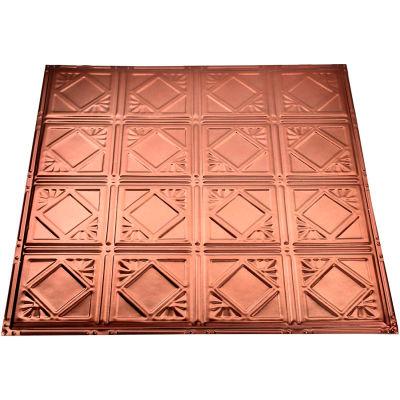 Great Lakes Tin Ludington 2' X 2' Nail-up Tin Ceiling Tile in Vintage Bronze - T57-09