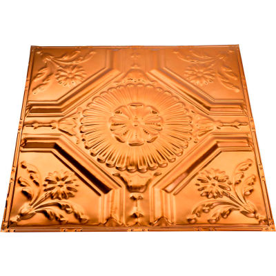Great Lakes Tin Rochester 2' X 2' Nail-up Tin Ceiling Tile in Copper - T58-08