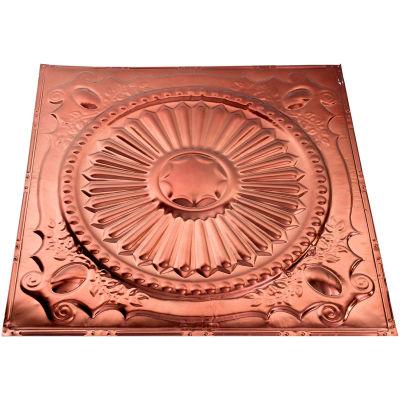 Great Lakes Tin Toronto 2' X 2' Nail-up Tin Ceiling Tile in Vintage Bronze - T59-09
