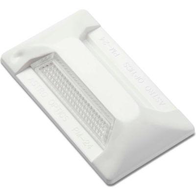 "102209 PM-24 Pavement Marker, 2"" x 4"", White Reflector, 1 Side"