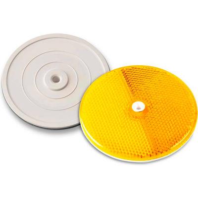 "102222 3-1/4"" Amber Centermount Reflector, Plastic Backplate, RT-90A"