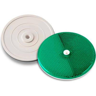 "102230 3-1/4"" Green Centermount Reflector, Plastic Backplate, RT-90G"