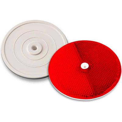 "102232 3-1/4"" Red Centermount Reflector, Plastic Backplate, RT-90R"