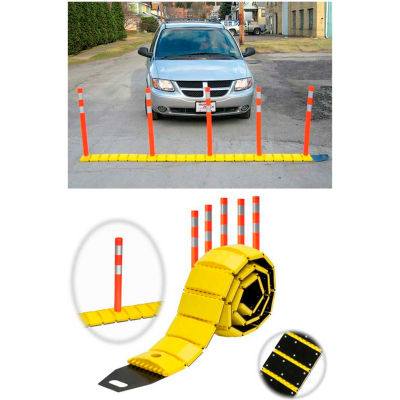 3192-00003 Traffic Guard Portable Speed Bump with Delineators and Reflectors, 10'L