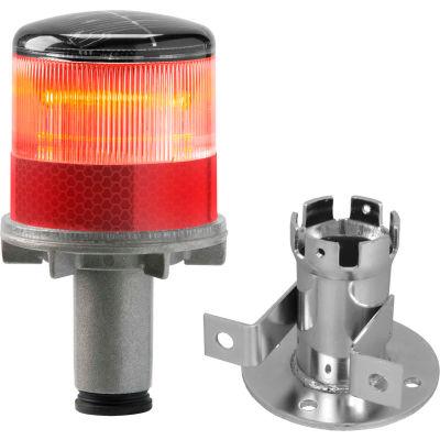 3337-00001 Solar Powered LED Strobe Lights, Red Bulb