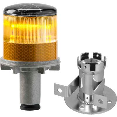 3337-00002 Solar Powered LED Strobe Lights, Amber Bulb