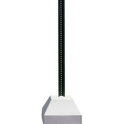 """250 lbs. Concrete Base with 6' U-Channel Post, 18"""" Square Base, White"""