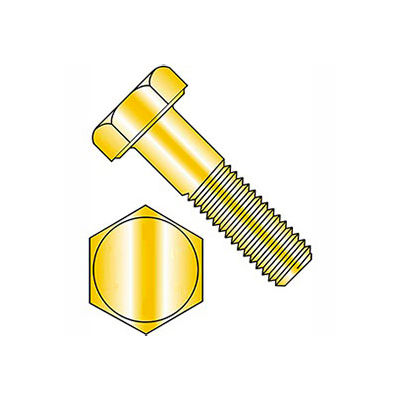 Hex Head Cap Screw - M16 x 2.0 x 45mm - Steel - Zinc Yellow - Class 10.9 - DIN 933 - Pkg of 25