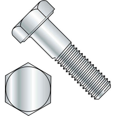 Hex Head Cap Screw - M10 x 1.0 x 50mm - Steel - Zinc Clear - Class 8.8 - DIN 960 - Pkg of 100