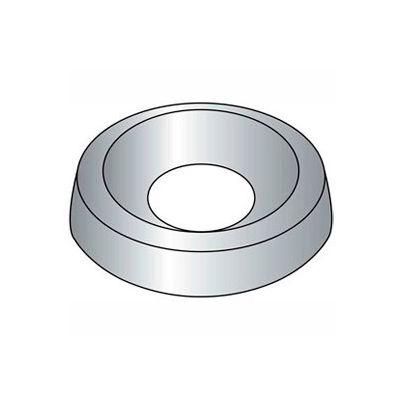 "1/4"" Countersunk Finishing Washer - .322/.299"" I.D. - Steel - Plain - Grade 2 - 100 Pk"