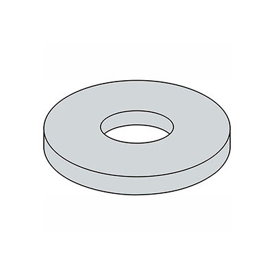 "1/4"" x 1-1/4"" Fender Washer - .285"" I.D. - .047/.08"" Thick - Steel - Zinc - Grade 2 - Pkg of 100"