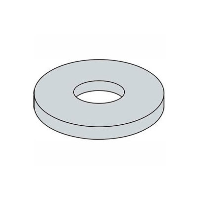 "#8 x 3/4"" Fender Washer - "" I.D. - .047/.08"" Thick - Steel - Zinc - Grade 2 - Pkg of 100"