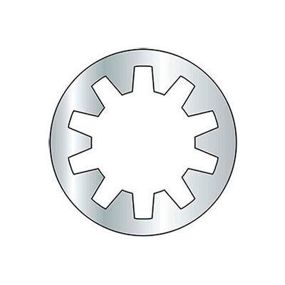 #5 Internal Tooth Lock Washer - Grade 2 - Steel - Zinc - Pkg of 100