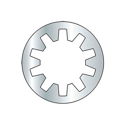 #8 Internal Tooth Lock Washer - Grade 2 - Steel - Zinc - Pkg of 100