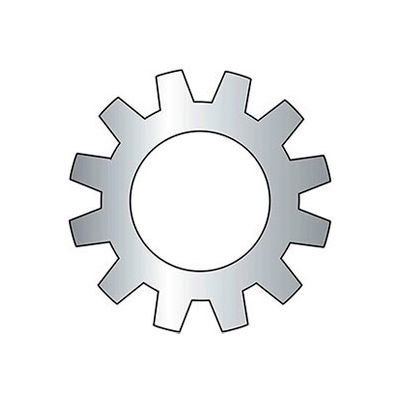 """3/4"""" External Tooth Lock Washer - .795/.769"""" I.D. - Steel - Zinc - Grade 2 - 50 Pk"""
