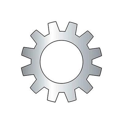 "#4 External Tooth Lock Washer - .123/.115"" I.D. - .018/.012"" Thick - Steel - Zinc - Grade 2 - 100 Pk"