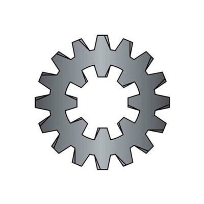 #6 Combination Internal/External Tooth Lock Washer - Steel - Zinc - Pkg of 100