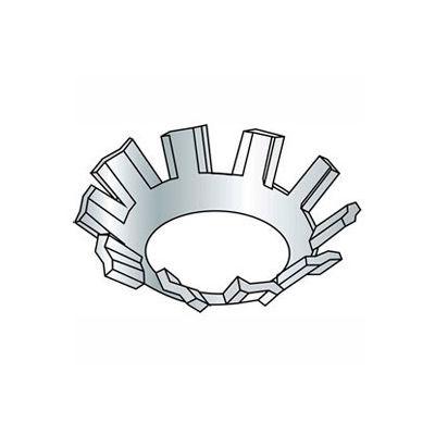"""1/4"""" External Tooth Countersunk Lock Washer - .267/.255"""" I.D. - Steel - Zinc - Grade 2 - 100 Pk"""
