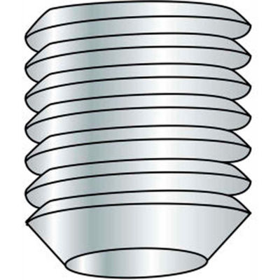 M8 x 1.25 x 10mm - Cup Point Socket Set Screw - 304 Stainless Steel - Pkg of 100