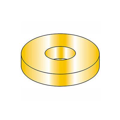 "1/4"" Flat Washer - SAE - 9/32"" I.D. - Steel - Yellow Zinc - Grade 8 - Pkg of 100"