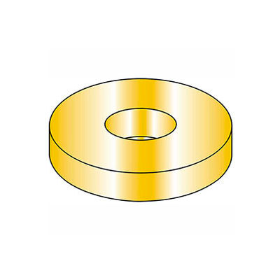 "7/16"" Flat Washer - SAE - 15/32"" I.D. - Steel - Yellow Zinc - Grade 8 - Pkg of 100"