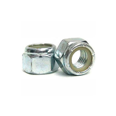 M12 x 1.75 Nylon Insert Lock Nut - Steel - Yellow Zinc - Class 10.9 - Pkg of 100