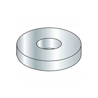 """#6 Flat Washer - SAE - 5/32"""" I.D. - Steel - Zinc - Grade 2 - Pkg of 100"""