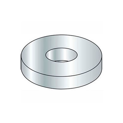"""9/16"""" Flat Washer - SAE - 19/32"""" I.D. - Steel - Zinc - Grade 2 - Pkg of 50"""