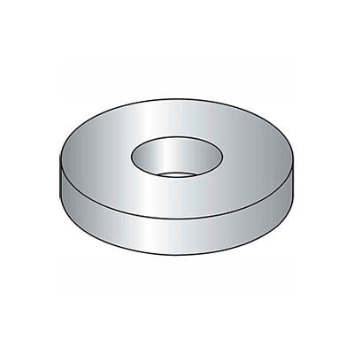 "3/8"" Flat Washer - USS - 7/16"" I.D. - .064/.104"" Thick - Steel - Zinc - Grade 2 - Pkg of 100"