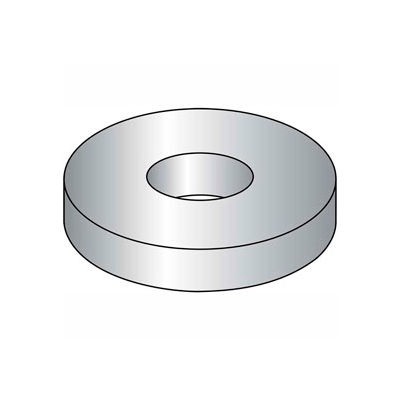 "#10 Flat Washer - SAE - 7/32"" I.D. - Steel - Zinc Plated - Grade 2 - Pkg of 100"