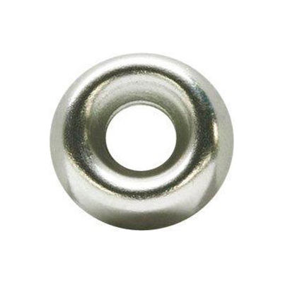 "#10 Countersunk Finishing Washer - .268/.236"" I.D. - .012/.02"" Thick - Brass - Plain - Pkg of 100"