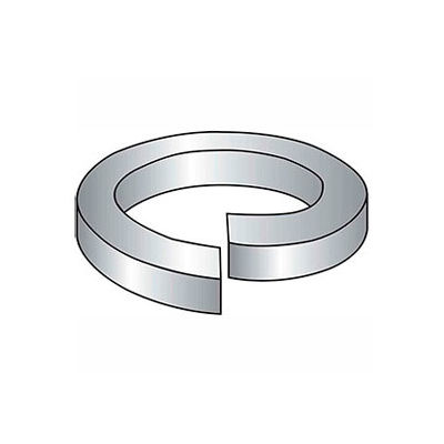 "3/8"" Hi-Collar Split Lock Washer - .385/.377"" I.D. - .125"" Thick - Steel - Zinc - Grade 2 - 100 Pk"