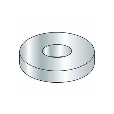 #4 Flat Washer - SAE - Machine Screw Pattern - Steel - Zinc - Grade 2 - Pkg of 1 Lb.