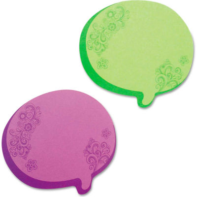 """Redi-Tag® Thought Bubble Notes 22102, 2-3/4"""" x 3"""", Neon Green, 76 Sheets, 2/Pack"""