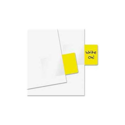 """Redi-Tag® Standard Page Flags, 1"""" x 1-11/16"""", Yellow, 50 Flags/Pack"""
