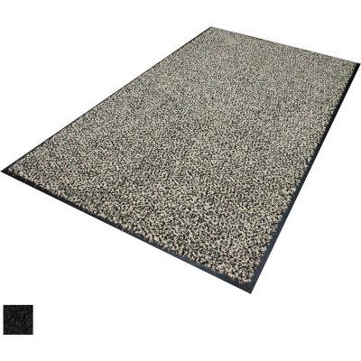 "Classic Entrance Brush Mat 3/8"" Thick 4 x 6' Muli-Color Black Primary"