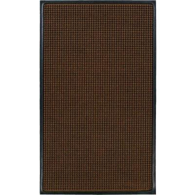 "WaterHog® Classic Entrance Mat Waffle Pattern 3/8"" Thick 6 x 8' Dark Brown"