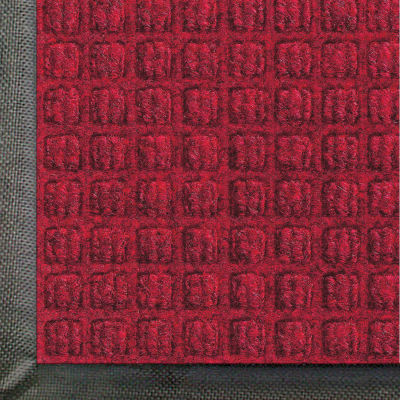 "WaterHog® Classic Entrance Mat Waffle Pattern 3/8"" Thick 4 x 6' Red/Black"