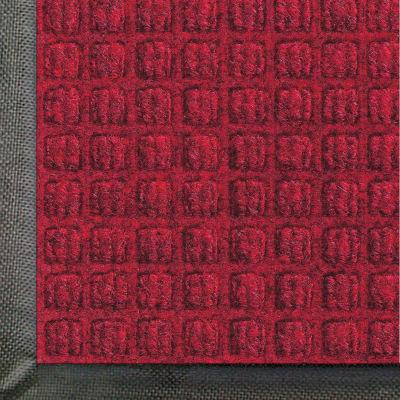 "WaterHog® Classic Entrance Mat Waffle Pattern 3/8"" Thick 3 x 10' Red/Black"