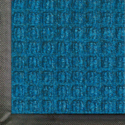 "WaterHog® Classic Entrance Mat Waffle Pattern 3/8"" Thick 6 x 20' Blue"