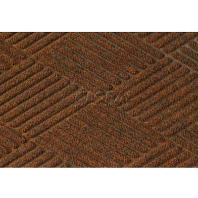 "WaterHog® Diamond Mat Fashion Border 3/8"" Thick 4' x 8' Dark Brown"