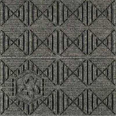 """Waterhog Eco Premier Carpet Tile 22157314000, Geometric, 18""""L X 18""""W X 1/4""""H, Grey Ash, 12-PK"""