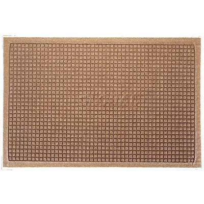WaterHog™ Fashion Entrance Mat, Med Brown 3' x 12'