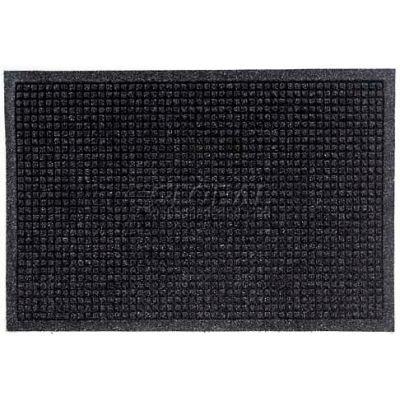 "WaterHog® Entrance Mat Fashion Border 3/8"" Thick 3' x 5' Charcoal"