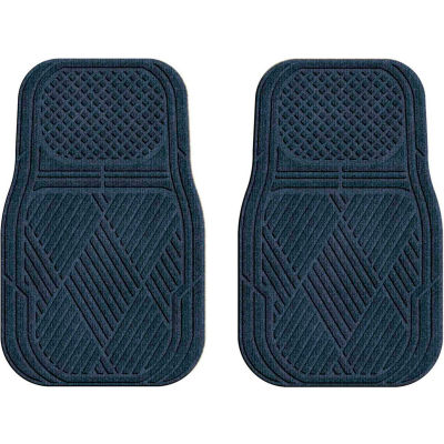 Waterhog Car Mats with Classic Pattern, Medium, Navy, Front Set of 2 - 3901610001070