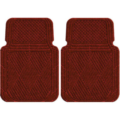 Waterhog Car Mats with Classic Pattern, Large, Red/Black, Front Set of 2 - 3902550001070