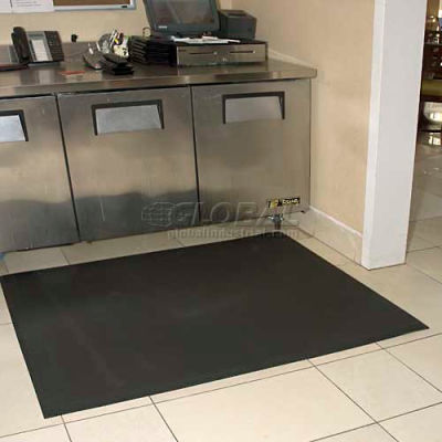 "Complete Comfort™ Anti-Fatigue Mat w/o Holes, 5/8"" Thick, 3' x 4', Black"