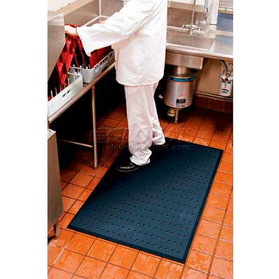 """Complete Comfort™ Anti-Fatigue Mat w/Holes, 5/8"""" Thick, 3' x 4', Black"""
