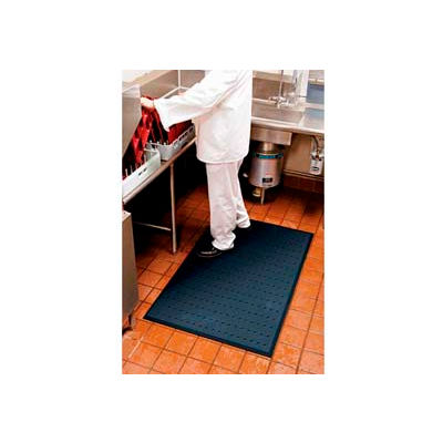 """Complete Comfort™ Anti-Fatigue Mat w/Holes, 5/8"""" Thick, 3' x 10', Black"""